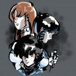 macross trio gray shirt