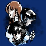 macross trio navy blue shirt