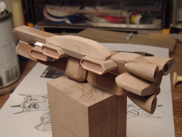 1/5000 MOSPEADA Ikazuchi Carrier In Progress