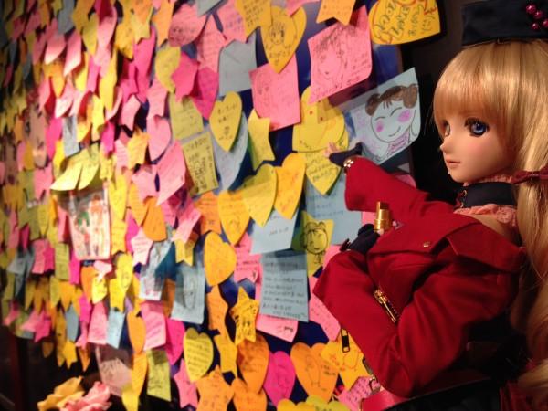 Fan messages at the Nyan Nyan Cafe