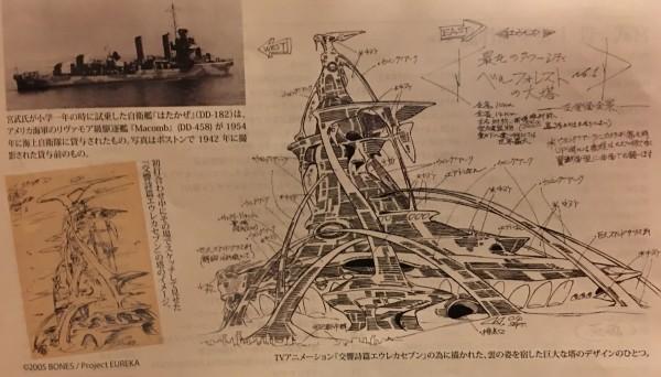 Miyatake's work on Eureka 7 was prominently featured.
