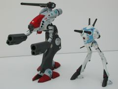 Bandai 1/100 Scale Glaug Tactical Pod and Revoltech Regult