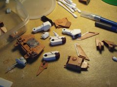 1/72 Imai Variable VF-1A parts in-process