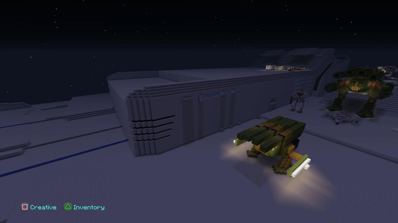 Minecraft  Macross SDF-1 detailing