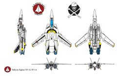 Macross Vf fighter VF-1ZS skull leader Roy Focker