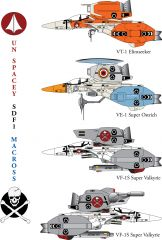 Macross VF-1 Super Valkyrie Fighters By jinyol