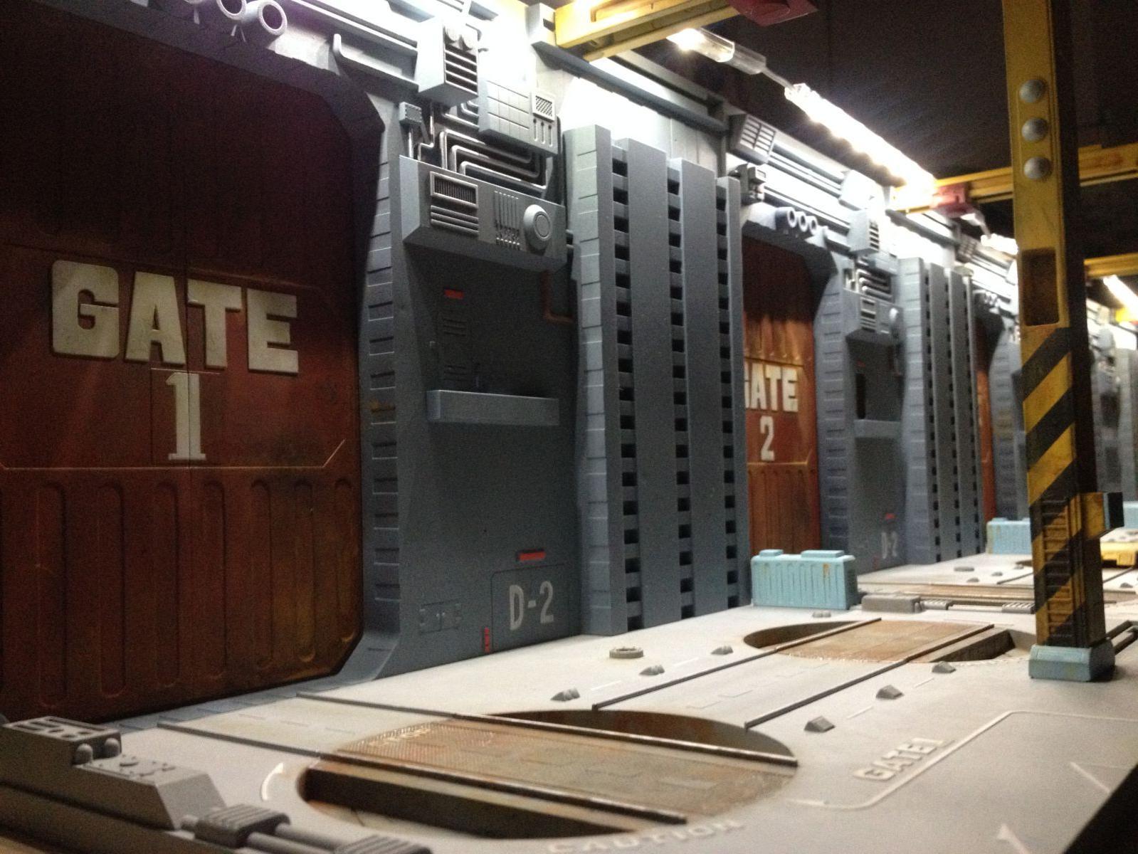 Temporary Lighting Armored Factory 1 100 Diorama Macross