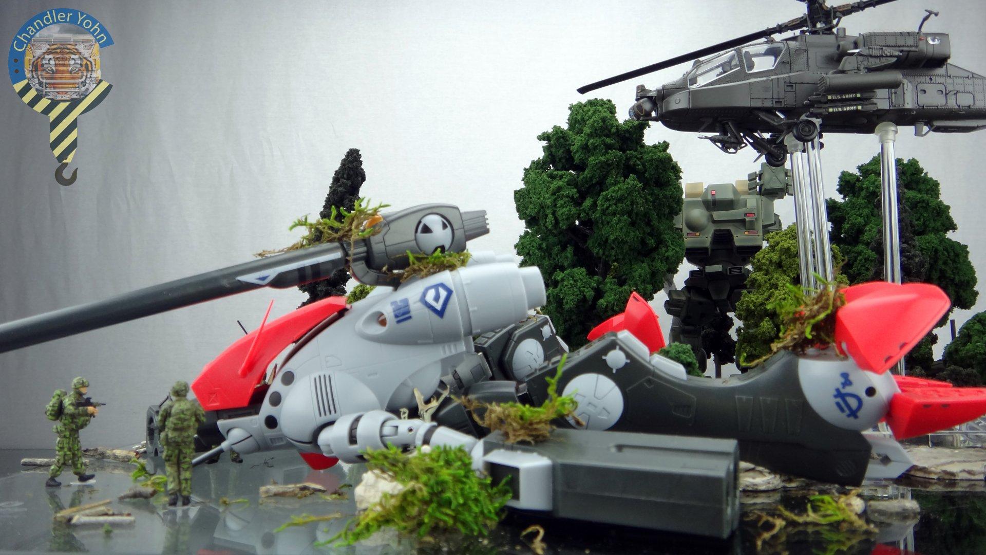 Bandai Zaentradi Glaug Crash AH64-D Apache M1 Abrams Yamato Tomahawk Destroid 7.jpg