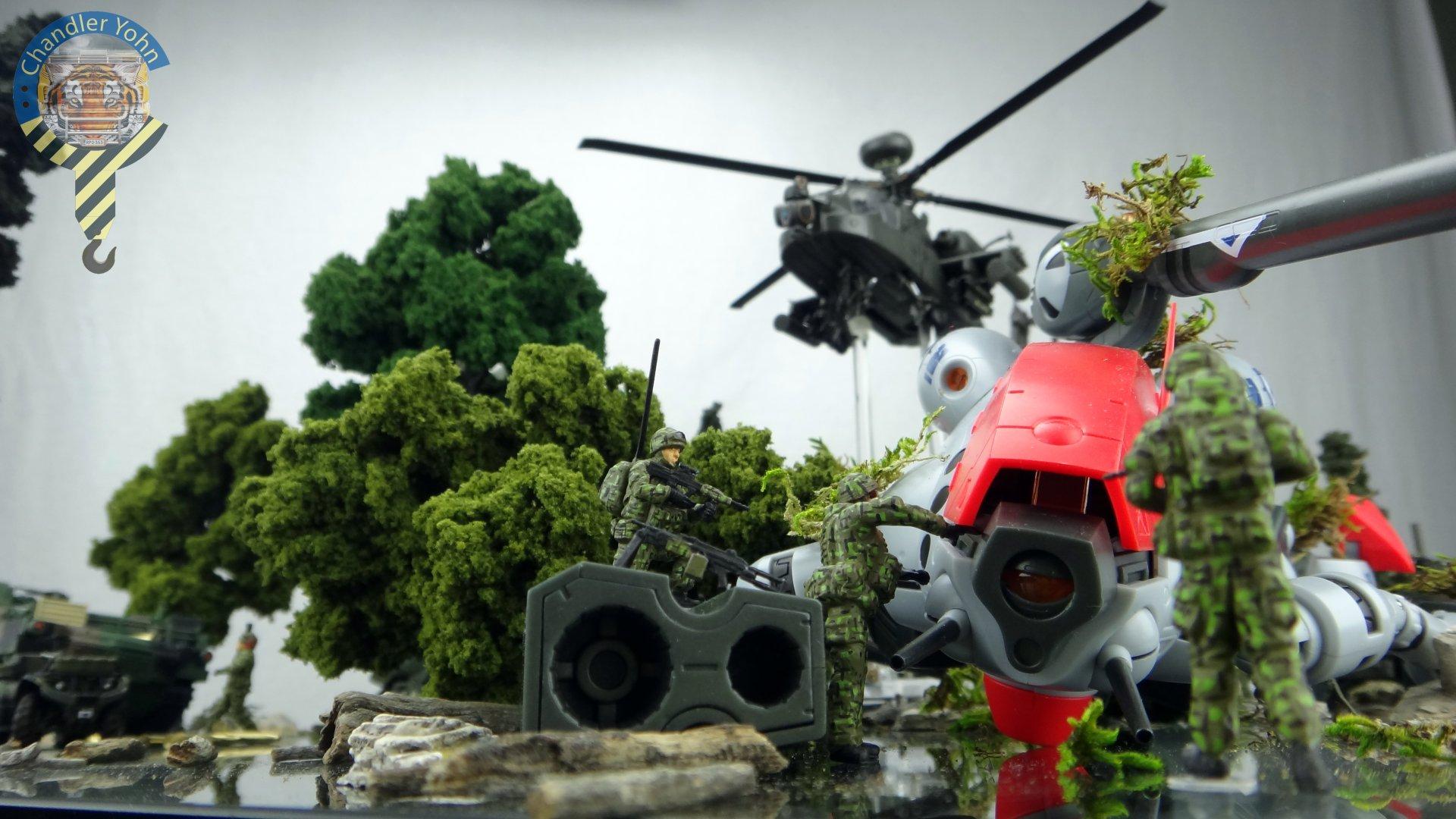 Bandai Zaentradi Glaug Crash AH64-D Apache M1 Abrams Yamato Tomahawk Destroid 9.jpg
