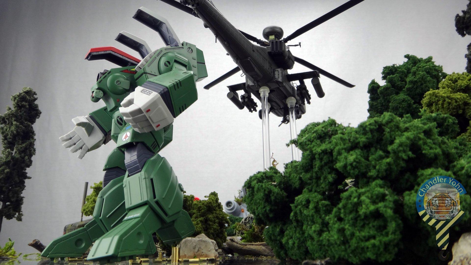 Bandai Zaentradi Glaug Crash AH64-D Apache M1 Abrams Yamato Tomahawk Destroid 28.jpg