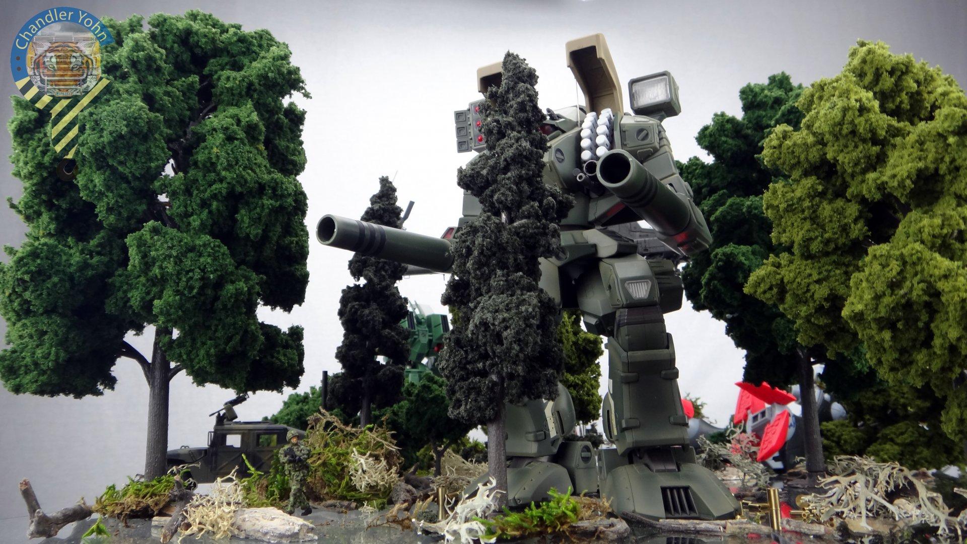 Bandai Zaentradi Glaug Crash AH64-D Apache M1 Abrams Yamato Tomahawk Destroid 34.jpg