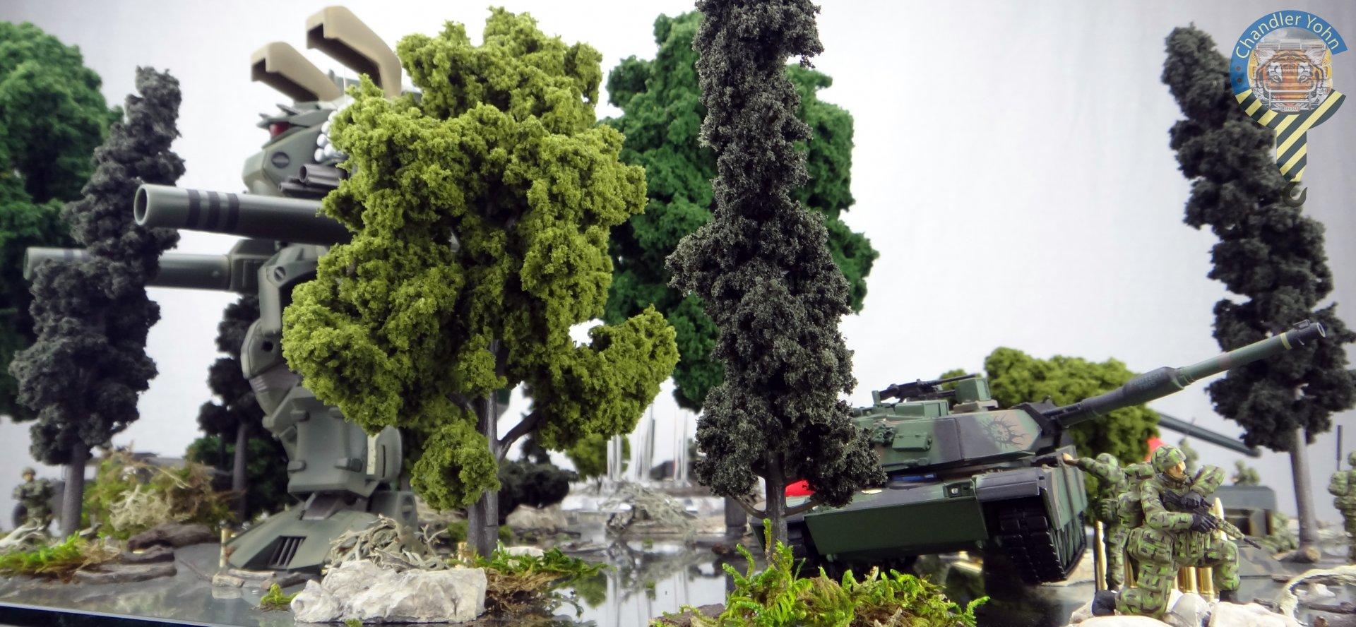 Bandai Zaentradi Glaug Crash AH64-D Apache M1 Abrams Yamato Tomahawk Destroid 35.jpg