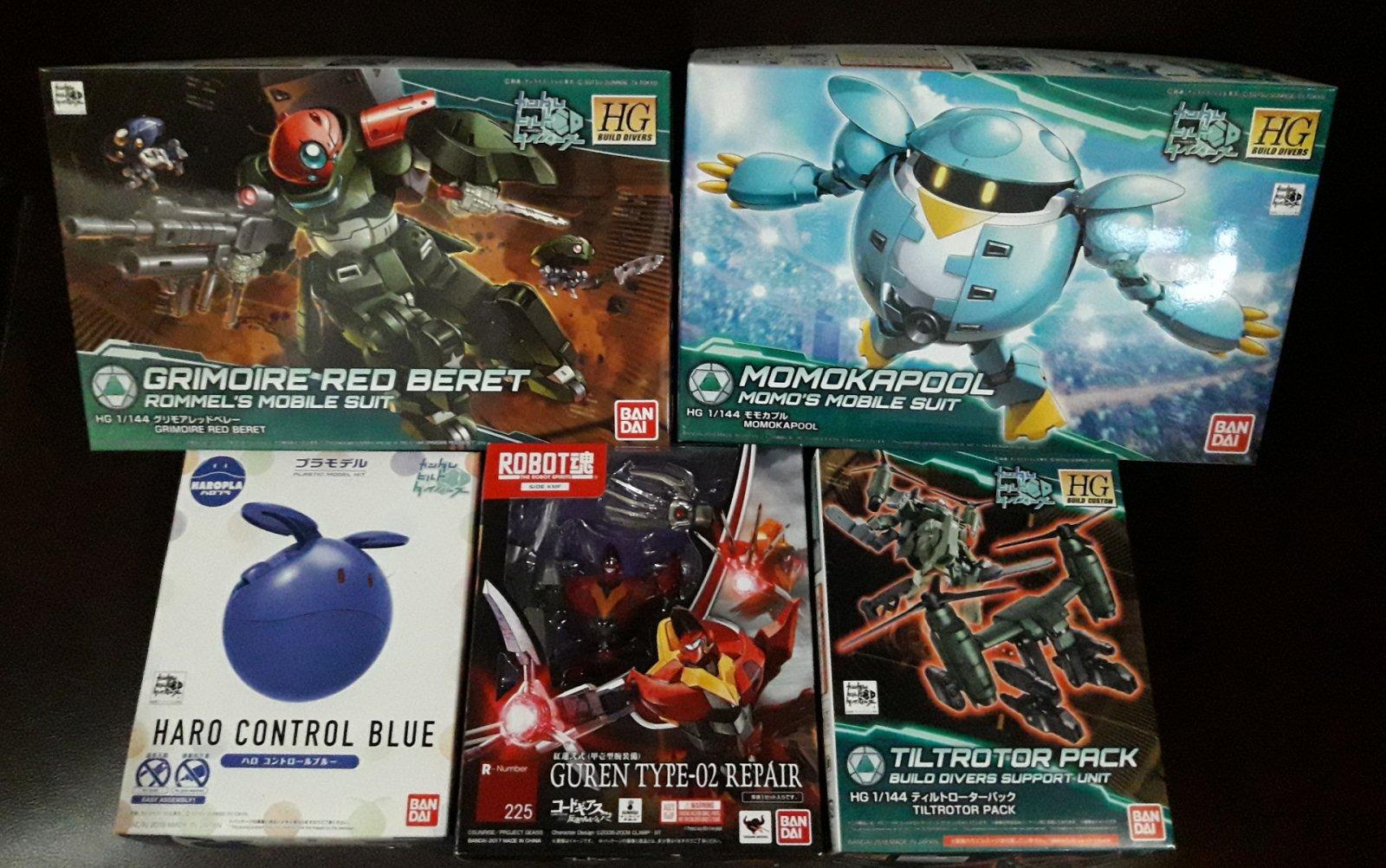 Gundam kits and RD Guren Nishiki