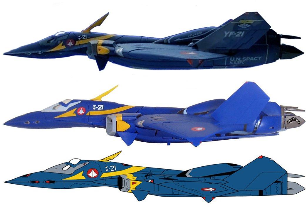 YF-21 DX-Yamato-LineArt comparison_4.jpg